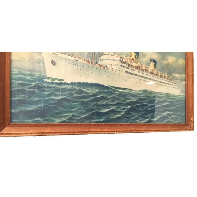 Vintage Print of Atlantic Cruiseliner - Image 4 of 7