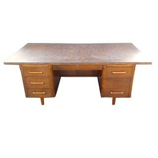 Mid Century Modern Wood Executive Junior Desk
