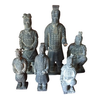 Asian Clay Figures Soldiers - Set of 6