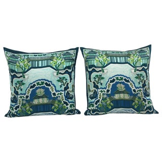 Chinoiserie Pagoda Pillows - Pair