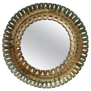 Round Ceramic Italian Mirror