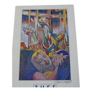 Pop Art Marilyn Monroe 1989 Signed Zhee Singer Poster