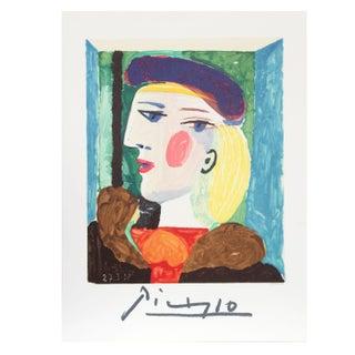 Pablo Picasso - Femme Profile Estate Lithograph