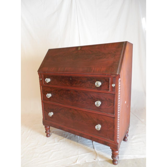Signed Pennsylvania 1836 Cherry Slant Front Desk - Image 2 of 11