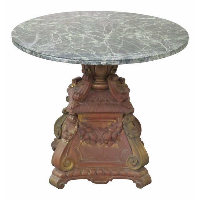 Marble Coffee Table Ornate: Ornate French Bronze Marble Top Center Table