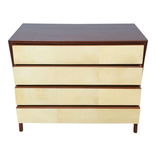 Italian Modern Mahogany and Parchment Commode, Dassi