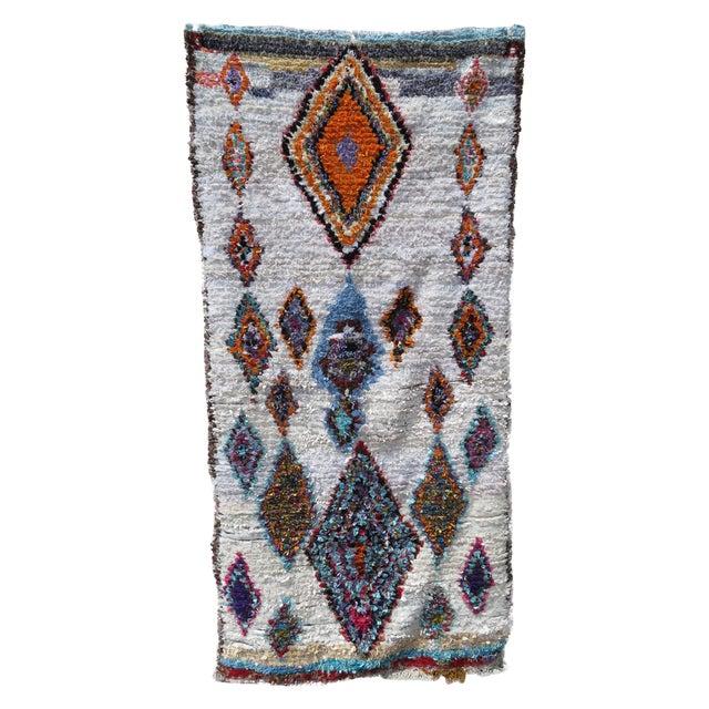 Moroccan Boucherouite Rug - 4′11″ × 9′6″ - Image 1 of 6