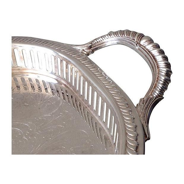 Image of Silver Plate Reticulate Long Server Tray