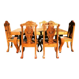 Vintage Mexican Handcrafted Dining Set