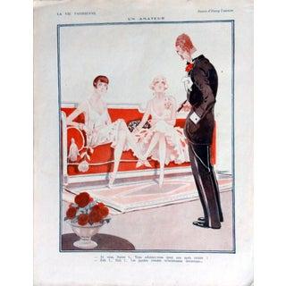 """Fournier 1925 La Vie Parisienne """" Un Amateur"""" Print"""