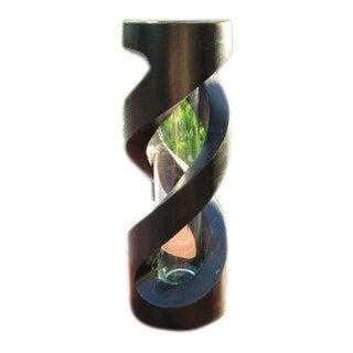 Handmade Helix Shape Modern Art Mango Wood Vase