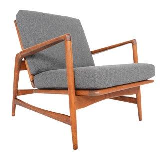 Ib Kofod Larsen Danish Modern Lounge Chair in Oak