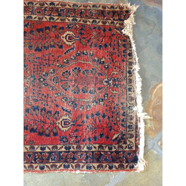 """Vintage Red Persian Rug - 2' 7"""" x 5' 10"""" - Image 5 of 5"""