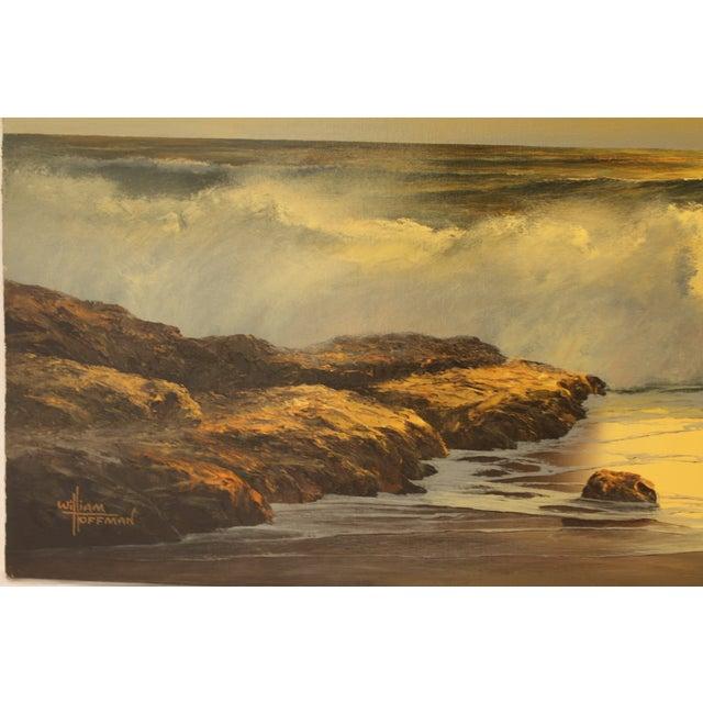 Image of Vintage William Hoffman Seascape Painting