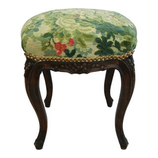 Scalamandre Upholstered Marly Tapestry Velvet Stool