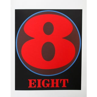 Eight, Serigraph by Robert Indiana