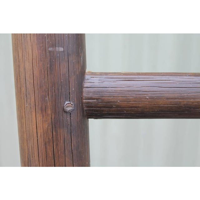 Folky 19th Century Bamboo Handmade Textile Ladder - Image 4 of 8