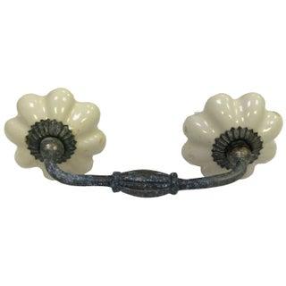 Ceramic Ivory Rustic Pulls - A Pair