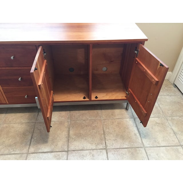 Room & Board Cherry Wood Custom Credenza - Image 7 of 10