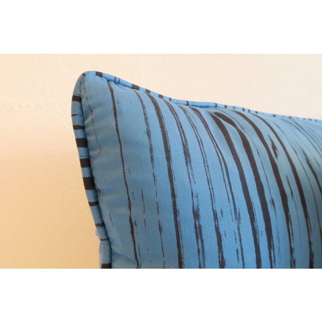Custom Blue Brushtroke Pattern Pillows- a Pair - Image 4 of 4