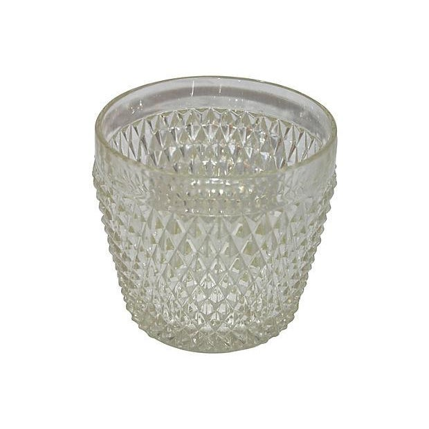 Diamond Point Glass Ice Bucket - Image 2 of 2
