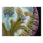 Image of Luneville French Majolica Asparagus Plate
