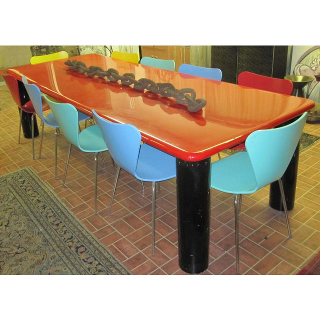 Vintage Italian Red Lacquer Table - Image 9 of 9