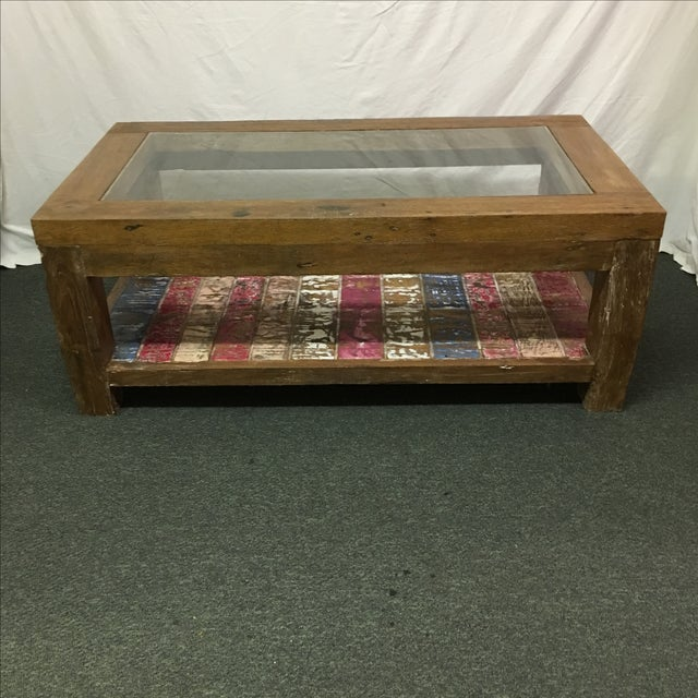Rustic Whitewashed Coffee Table - Image 2 of 9