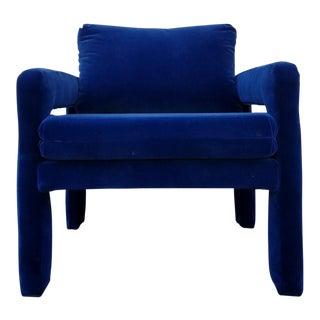 Royal Blue Velvet Armchair