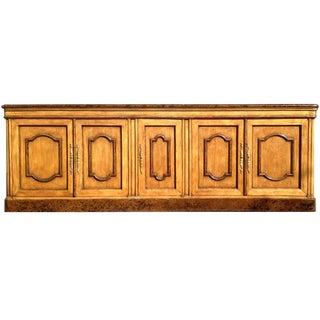 Traditional 5-Door Wood Credenza