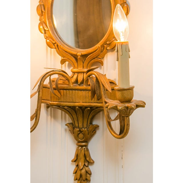 Pier Deux Gold Mirrored Sconce - Image 3 of 3