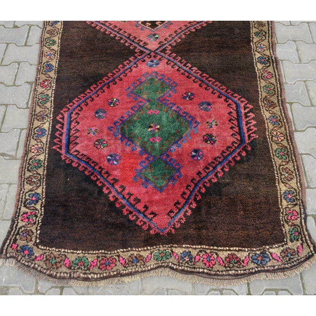 Hand Knotted Turkish Runner Rug - 4′6″ × 13′3″ - Image 9 of 11