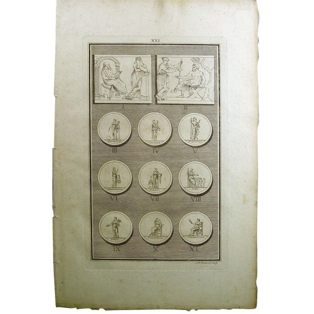 1755 Engraving Roman Medallions - Image 1 of 6