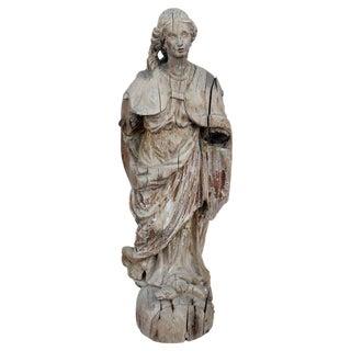 Late 17th Century Carved Italian Santo