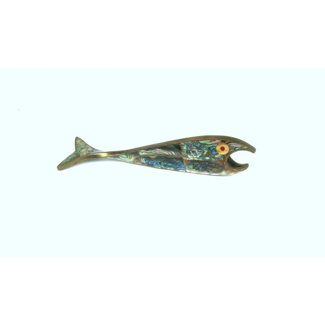 Image of Abalone & Brass Fish Bottle Opener