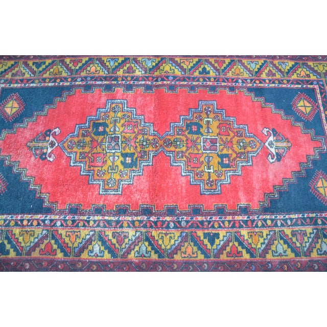 Turkish Handmade Anatolian Carpet - 4′ × 7′1″ - Image 5 of 6