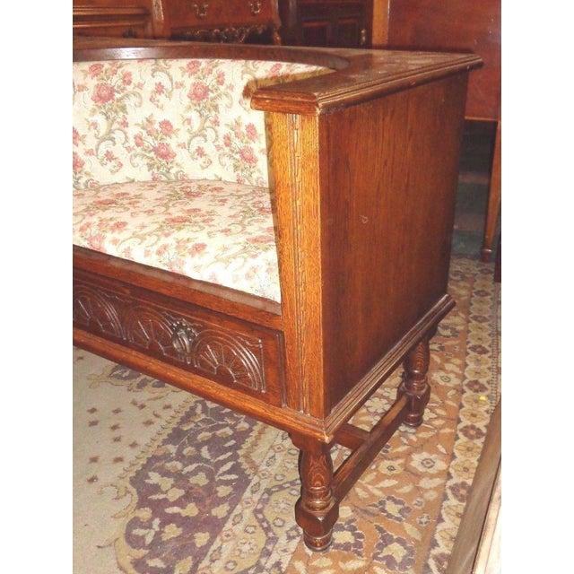Edwardian Mid-Century Telephone Sofa Bench - Image 9 of 11