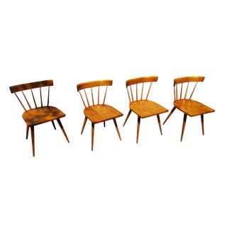 Paul McCobb Planner Group Spindle Back Dining Chairs - Set of 4