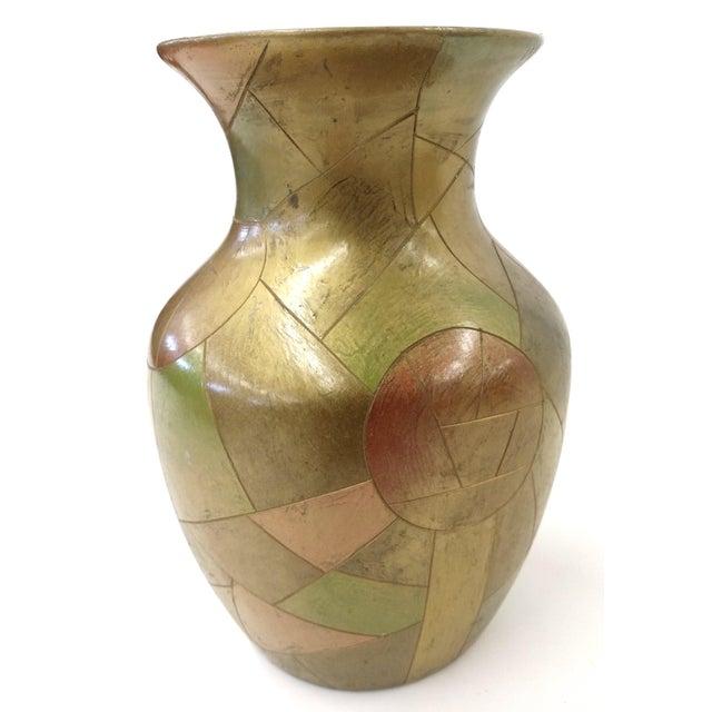 Unique Chinese Vintage Patchwork Ceramic Vase - Image 5 of 9