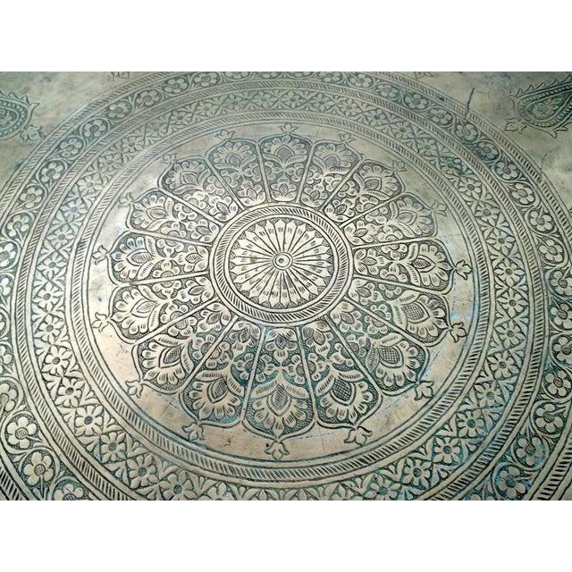 """Image of Antique Hand Chased Persian Copper Tray 26.5"""""""