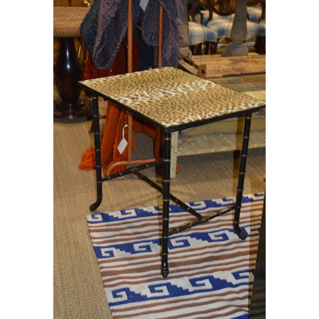 Vintage Rattan Side Table - Image 4 of 7