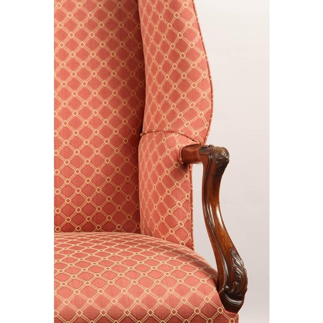 Finely Carved English Victorian Upholstered Settles - Image 2 of 8