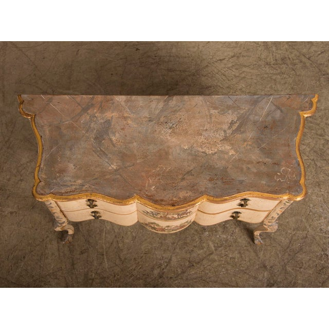 Antique Italian Baroque Painted Two Drawer Chest, circa 1750 - Image 11 of 11