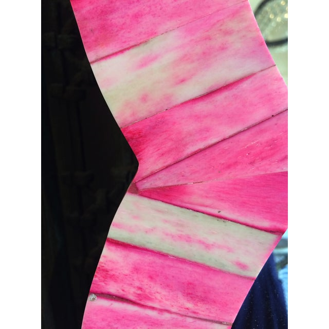 Image of Pink & Ivory Bone Inlay Wall Mirror