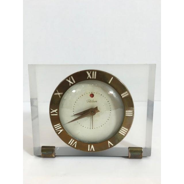 Mid-Century Telechron Lucite Clock - Image 2 of 6