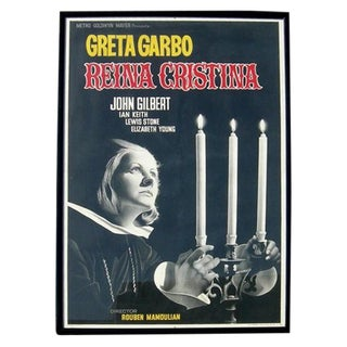 "Greta Garbo ""Queen Christina"" Framed Movie Poster"