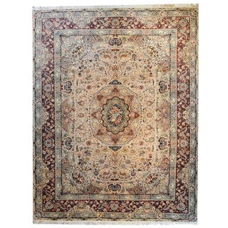 Vintage Persian Tabriz Rug - 8′8″ × 11′7″