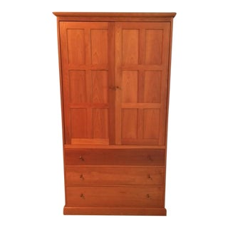 Stickley 3-Drawer Cherry Armoire