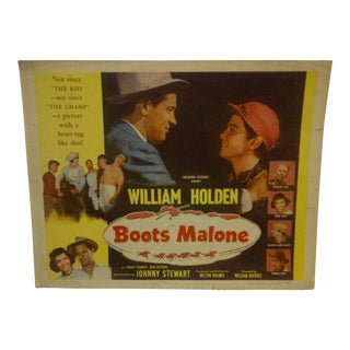 "1951 Vintage Movie Poster of ""Boots Malone"""