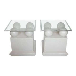 Modern Lacquered Side Tables / End Tables - a Pair
